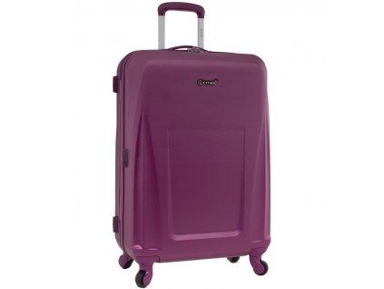 Cestovní kufr CITIES T-125/3-L ABS - fialová  + Sluchátka, myš nebo pouzdro