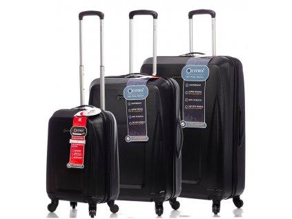 Sada cestovních kufrů CITIES T-125/3 ABS - černá  + Sluchátka, myš nebo pouzdro