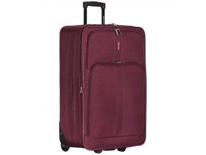 Cestovní kufr CITIES T-605/4-L - vínová  + Sluchátka, myš nebo pouzdro