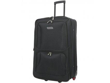 Cestovní kufr CITIES T-604/4-L - černá  + Sluchátka, myš nebo pouzdro