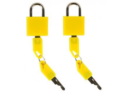 Bezpečnostní zámky na zavazadla ROCK 2ks TA-0009 - žlutá