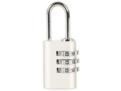 Bezpečnostní kódový zámek na zavazadla ROCK TA-0010 - stříbrná