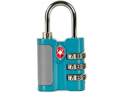 Bezpečnostní TSA kódový zámek na zavazadla ROCK TA-0005 - modrá