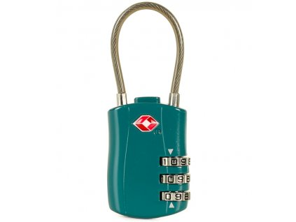 Bezpečnostní lankový TSA kódový zámek ROCK TA-0004 - zelená