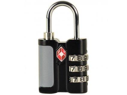 Bezpečnostní TSA kódový zámek na zavazadla ROCK TA-0005 - černá