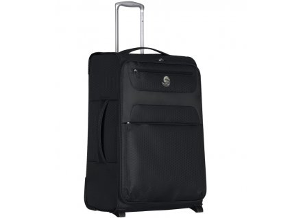 Cestovní kufr ECO-LITE T-1161/3-L - černá  + LED svítilna