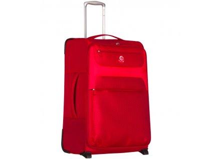 Cestovní kufr ECO-LITE T-1161/3-L - červená  + LED svítilna
