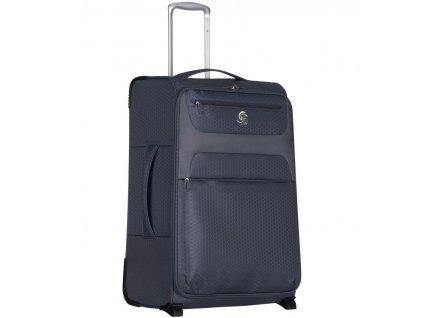 Cestovní kufr ECO-LITE T-1161/3-L - šedá  + LED svítilna