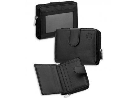 Dámská kožená peněženka METRO P04 - černá
