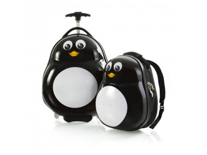 Heys Travel Tots Lightweight Kids Penguin – sada batohu a kufru  + LED svítilna