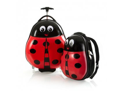 Heys Travel Tots Lightweight Kids Lady Bug – sada batohu a kufru  + LED svítilna
