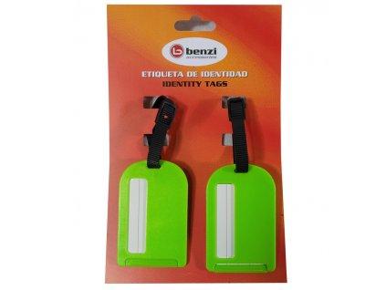 Jmenovky na zavazadlo Benzi 2ks BZ4066 - zelená
