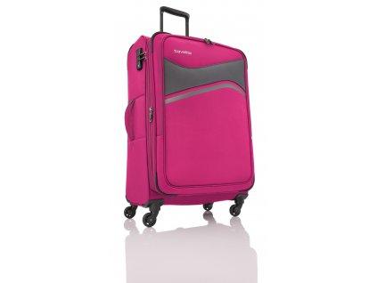Travelite Wave 4w L Pink  + Sluchátka, myš nebo pouzdro