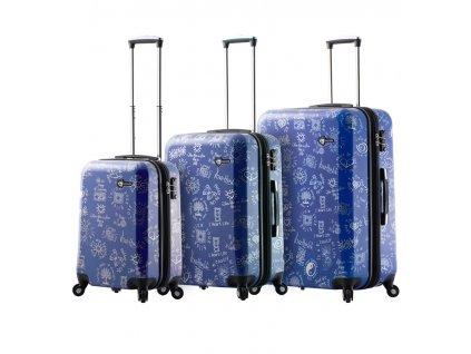 Sada cestovních kufrů MIA TORO M1089/3 - modrá  + LED svítilna