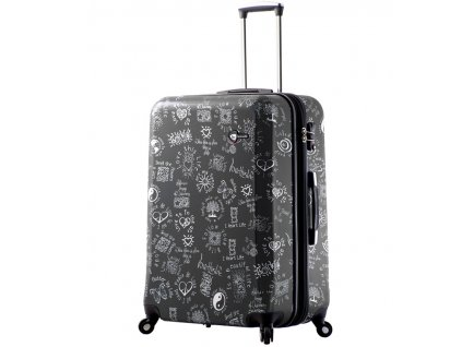 Cestovní kufr MIA TORO M1089/3-L - černá  + LED svítilna