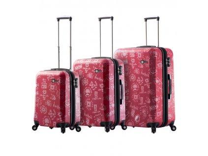 Sada cestovních kufrů MIA TORO M1089/3 - červená  + Sluchátka, myš nebo pouzdro