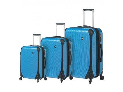 Sada cestovních kufrů MIA TORO M1021/3 - modrá  + Sluchátka, myš nebo pouzdro