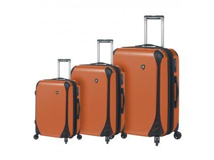 Sada cestovních kufrů MIA TORO M1021/3 - oranžová  + LED svítilna