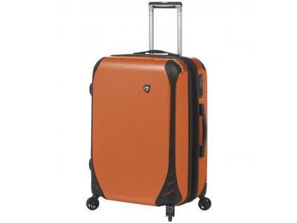 Cestovní kufr MIA TORO M1021/3-M - oranžová  + LED svítilna