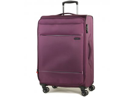 Cestovní kufr ROCK TR-0161/3-M - fialová  + LED svítilna
