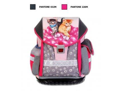 Školní batoh ERGO TWO Cats & Mice  + LED svítilna