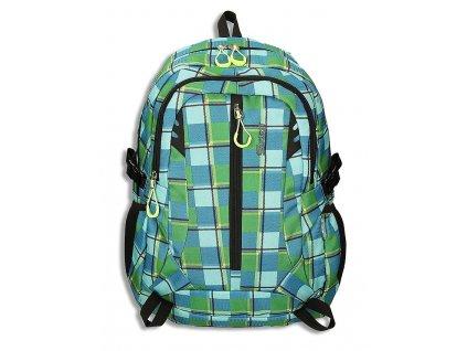 Studentský batoh WIZZARD Azure Green