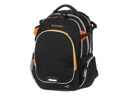 Studentský batoh WIZZARD Black  + LED svítilna