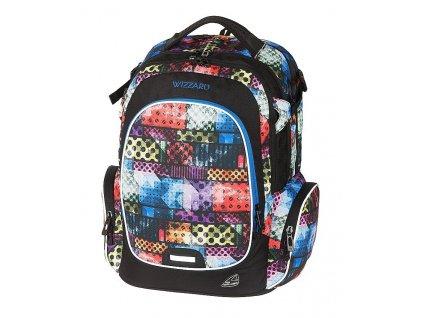 Studentský batoh WIZZARD Bricks  + Sluchátka, myš nebo pouzdro