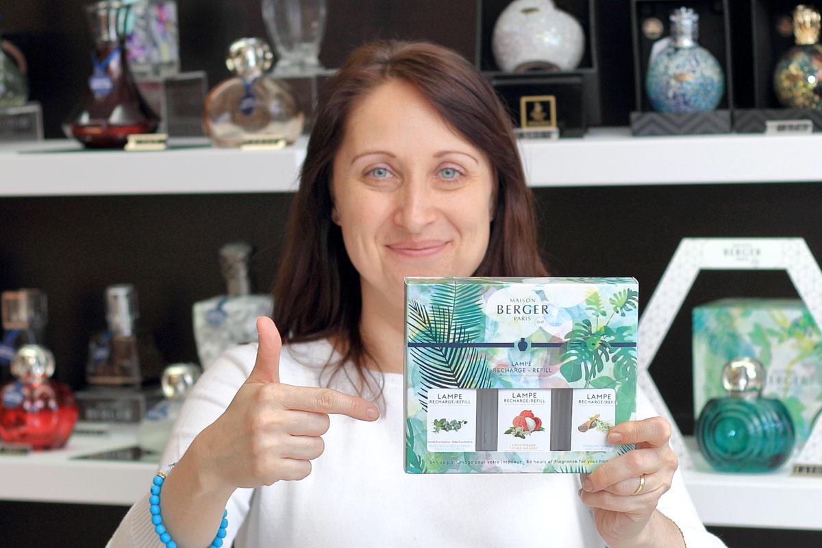Recenze vůní Čistý bílý čaj, Rajské liči a Čerstvý eukalyptus od Maison Berger Paris