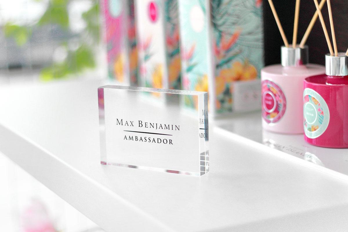 Svět bytových vůní je ambasador značky Max Benjamin pro Českou republiku