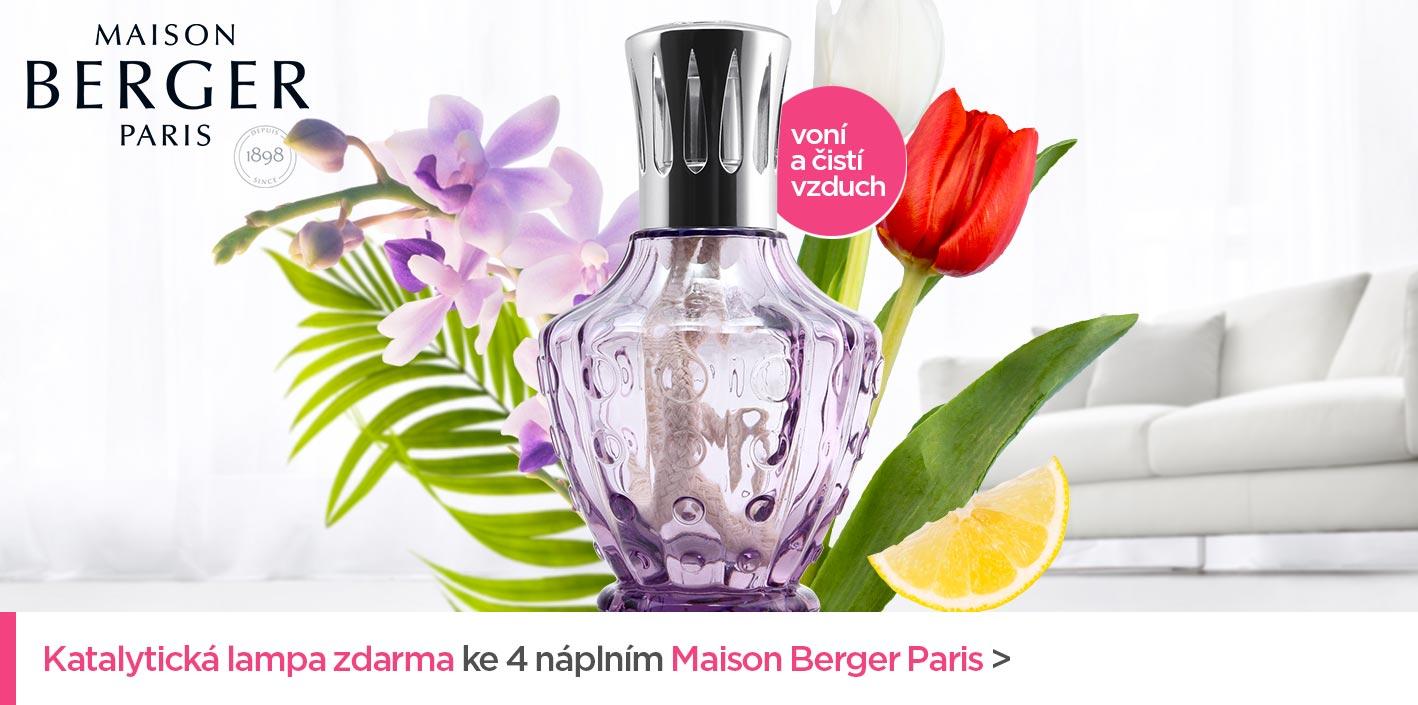 Katalytická lampa zdarma ke 4 náplním Maison Berger Paris