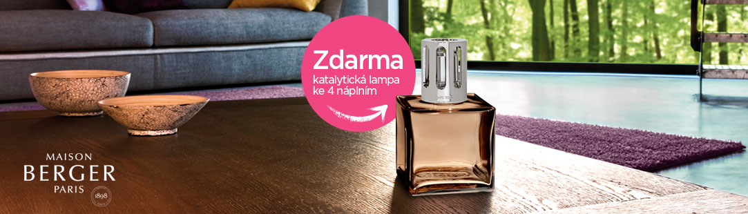 Katalytická lampa zdarma k nákupu 4 ks náplní 500 ml nebo Triopack
