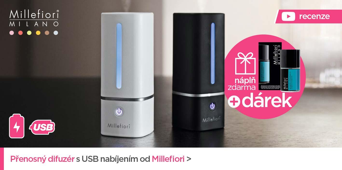 Přenosný aroma difuzér s USB nabíjením MOVEO od Millefiori