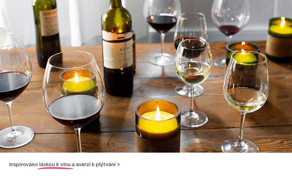 Inspirované láskou vínu a averzí k plýtvání... vonné svíčky Rewined