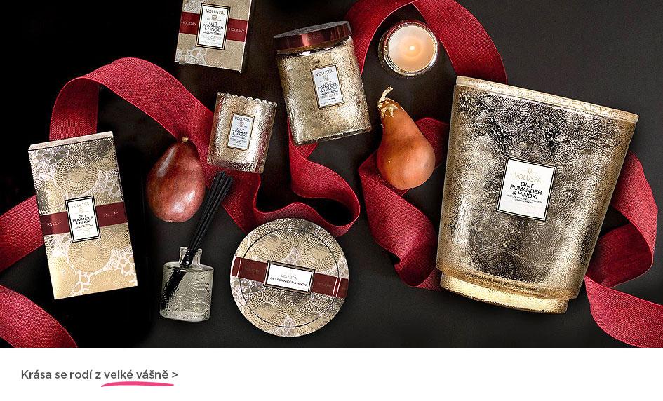 Krása se rodí z velké vášně... Vonné svíčky a aroma difuzéry Voluspa