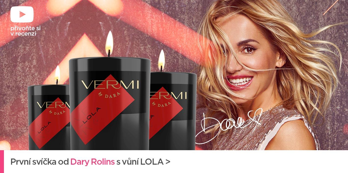 První svíčka od Dary Rolins s vůní LOLA