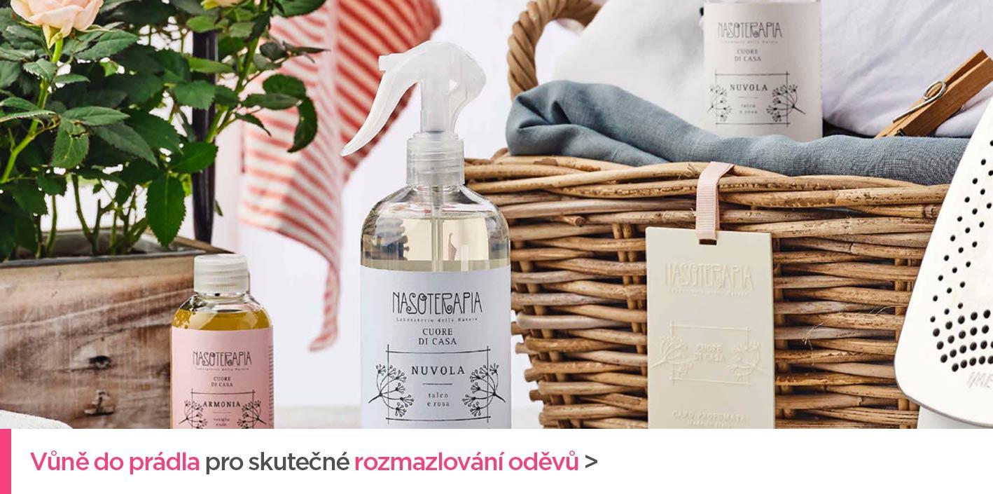 Vůně do prádla kolekce Cuore di Casa italského výrobce Nasoterapia