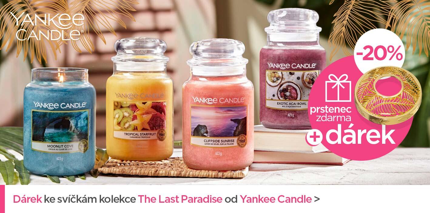 Dárek ke svíčkám kolekce The Last Paradise od Yankee Candle