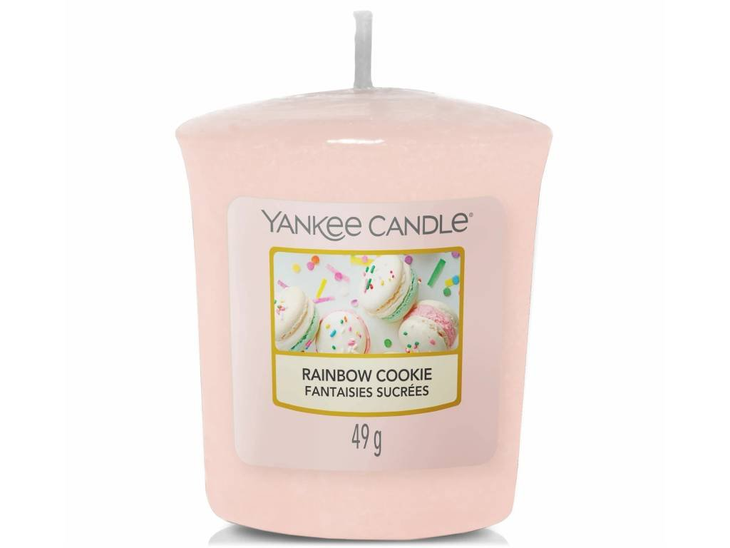yankee candle rainbow cookie votivni