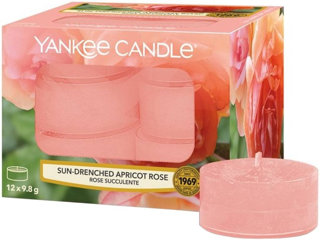 10118 yankee candle cajove svicky sun drenched apricot rose 12 ks