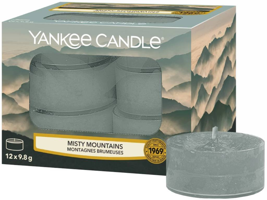 10319 yankee candle cajove svicky misty mountains 12 ks