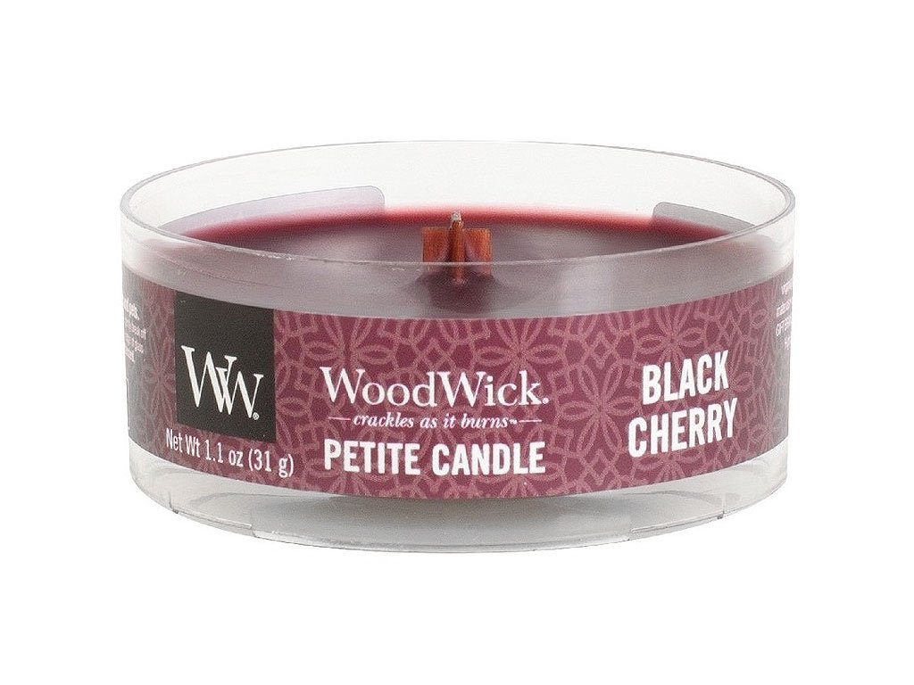 woodwick svicka black cherry petite candle