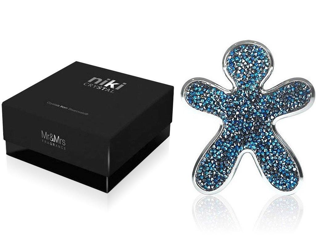 10949 mr mrs fragrance niki crystal panacek do auta blue se stribrnymi okraji