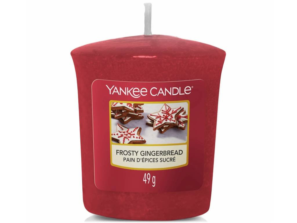 yankee candle frosty gingerbread votivni