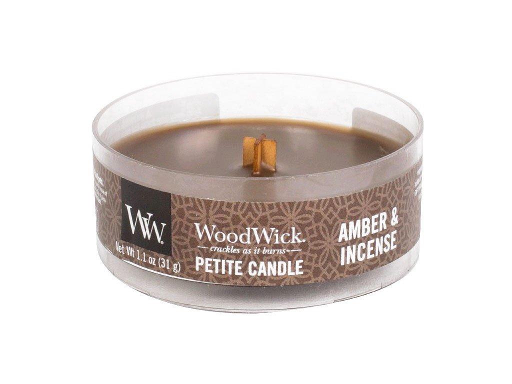 woodwick svicka amber incense petite candle