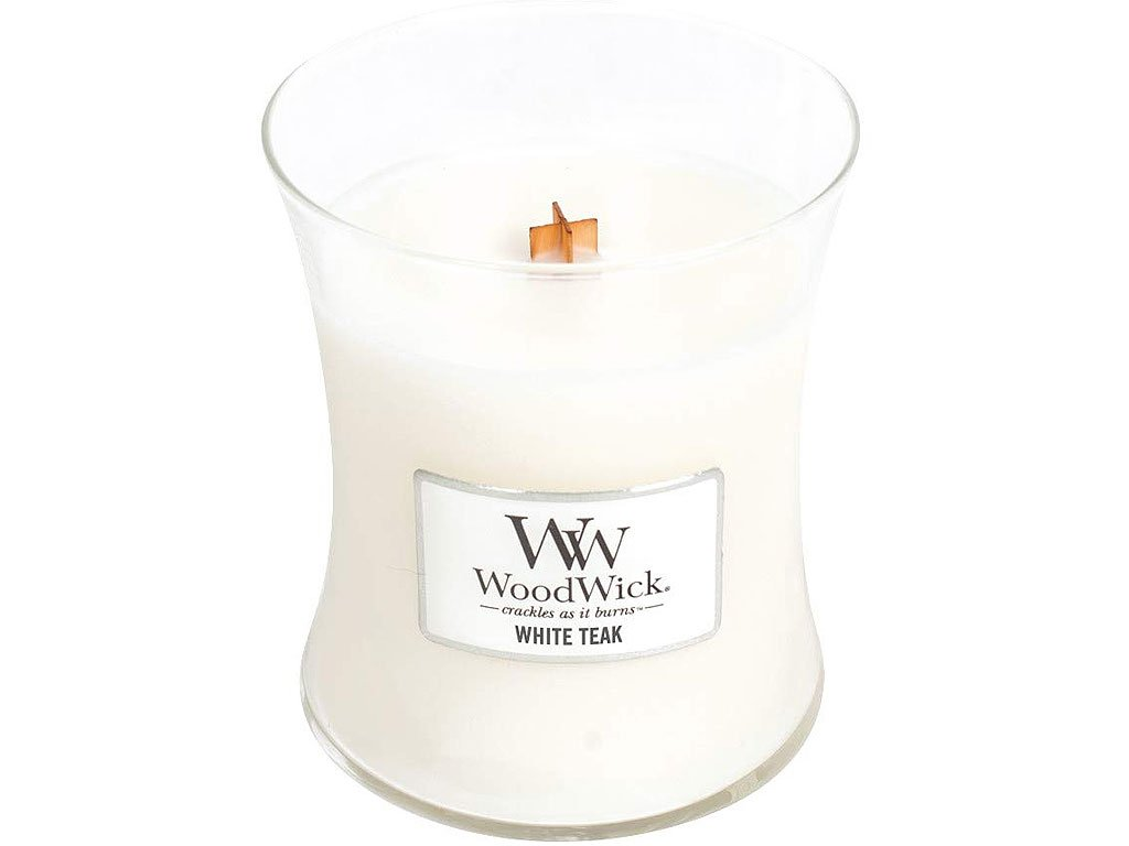 woodwick white teak stredni