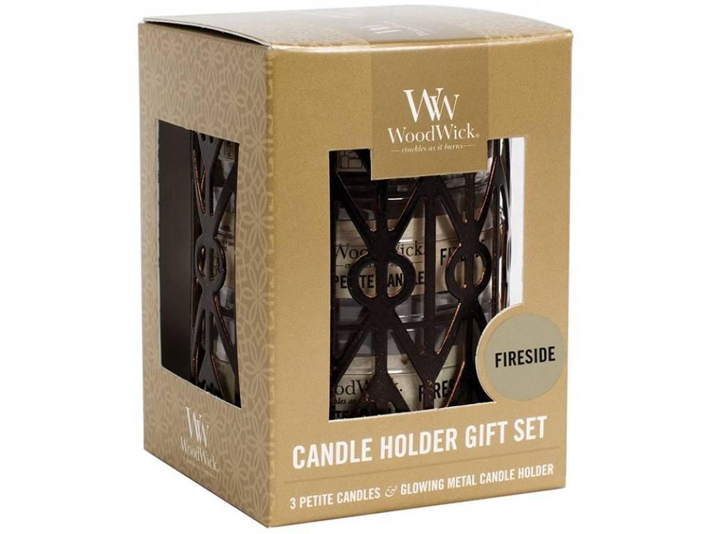 woodwick fireside set