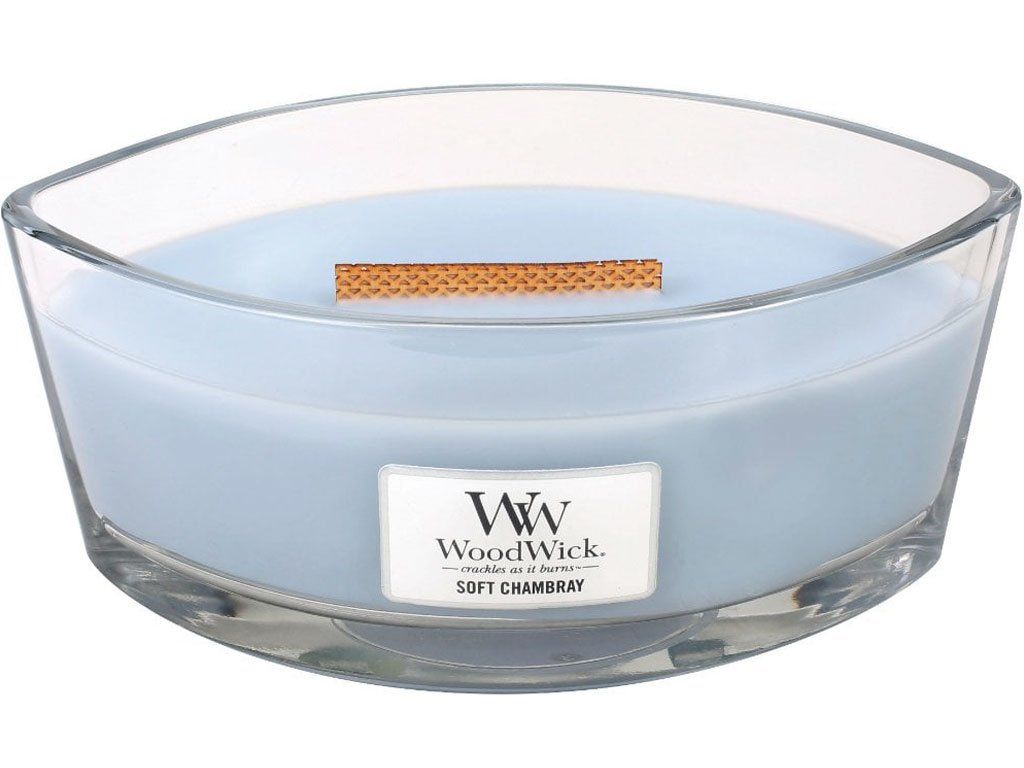 woodwick soft chambray lod