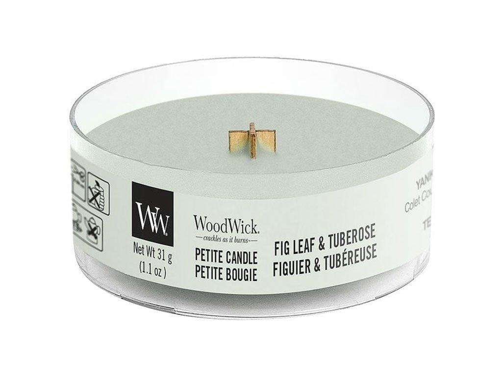 woodwick fig leaf tuberose petite candle