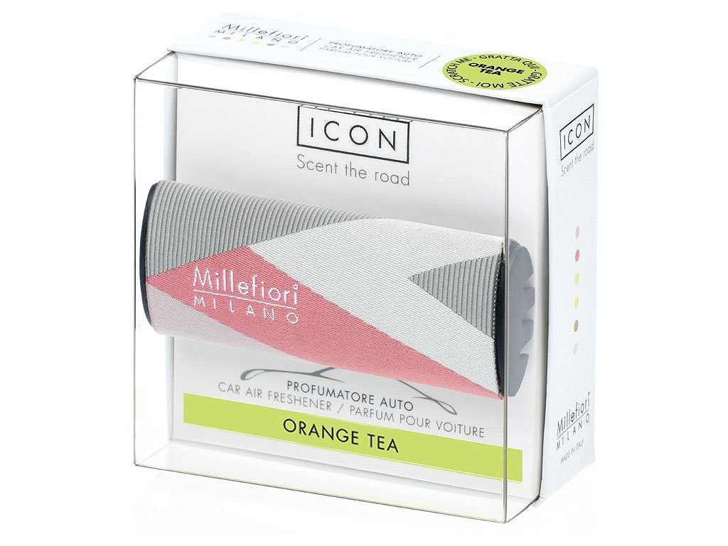 millefiori milano icon textile geometric orange tea